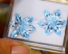15.59ct Natural Sky Blue Topaz Marquise Cut Lot B3425