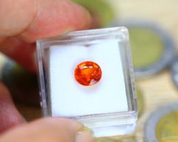 2.79ct Natural Orange Mandarin Garnet Oval Cut Lot B3433