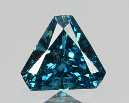 0.06 Cts Natural Flashing Blue Diamond Fancy Trillion 2.5mm Africa