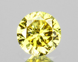 0.07 Cts Natural Untreated Diamond Fancy Yellow 2.7mm  Round Cut Africa