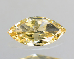 Fantastic!! 0.12 Cts Natural Untreated Diamond Fancy Yellow Marquise Africa