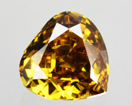Outstanding!!! 0.11 Cts Natural Untreated Diamond Fancy Yellow Pear Cut Afr
