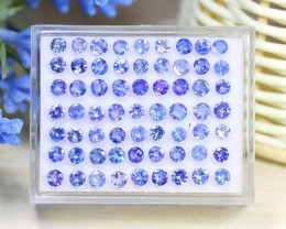 Tanzanite 11.21Ct Round Cut Natural Purplish Blue Tanzanite Lot B0609