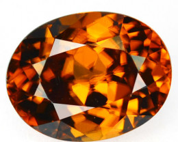 3.28 Cts Sparkling Natural Zircon Imperial Brown Color Oval Cut Tanzania