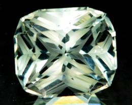 ~CUSTOM CUT~ 11.00 Cts Natural Prasiolite / Amethyst Fancy Cushion Brazil