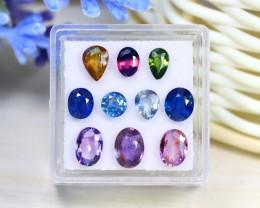 Sapphire 5.96Ct Natural Madagascar Fancy Color Sapphire Lot Box B0616