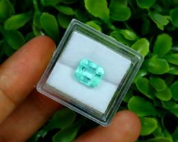 Emerald 2.70Ct Colombian Muzo Emerald Neon Mint Green Beryl B0631