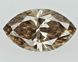 0.22 cts , marquise brilliant cut diamond , light colored diamond