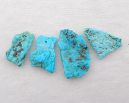 D1488 - 43cts sleeping beauty turquoise rough parcel pendant,natural gemsto