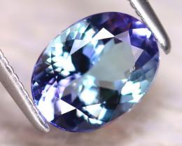 Tanzanite 1.74Ct Natural VVS Purplish Blue Tanzanite E0608/A45