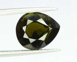 4.35 ct Natural Dark Green Tourmaline - from Africa