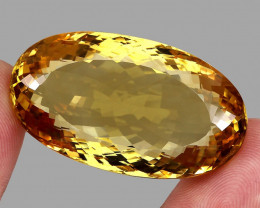 Museum Size 142.00 Ct.  Natural Earth Mined Top Quality Yellow Golden Citri