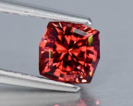 NO RESERVE 0.95 Crt Rhodolite Garnet Custom Cut Gemstone