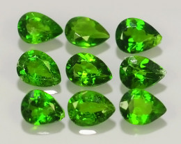 1.35 CTS NATURAL CHROME DIOPSIDE TOP GREEN  PEAR COLLECTION PARCEL