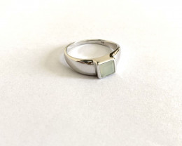 Blue Chalcedony 925 Sterling silver ring #36313