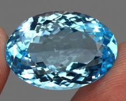28.26 ct. 100% Natural Earth Mined Top Quality Blue Topaz Brazil