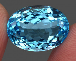 17.31  ct. 100% Natural Earth Mined Top Quality Blue Topaz Brazil