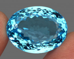 37.77  ct. 100% Natural Earth Mined Top Quality Blue Topaz Brazil