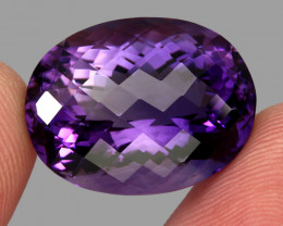 32.79 ct. Natural Earth Mined Top Nice Purple Amethyst Unheated Uruguay