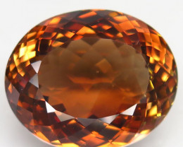 26.68 ct. 100% Natural Earth Mined Topaz Orangey Brown Brazil