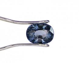 Blue Spinel, 1.44 Carat,  Oval Cut, Ceylon