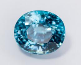 9.97ct Lab Certified Natural Blue Zircon