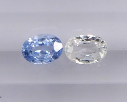 1.38ct unheated blue and white sapphire