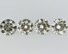 0.58 cts  Round Brilliant Cut , Light Colored Diamond