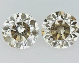 0.34 cts  Round Brilliant Cut , Light Colored Diamond