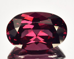 4.54 Cts Natural Pinkish Red Rhodolite Garnet Oval Mozambique