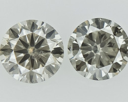 0.40 cts  Round Brilliant Cut , Light Colored Diamond