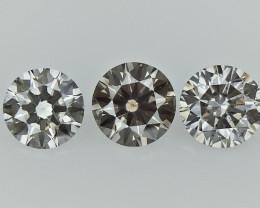 0.49 cts  Round Brilliant Cut , Light Colored Diamond