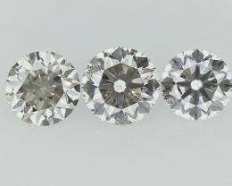 0.46 cts  Round Brilliant Cut , Light Colored Diamond