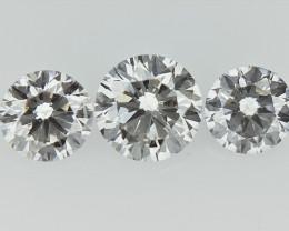 0.52 cts   Round Brilliant Cut , Light Colored Diamond