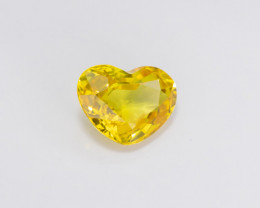 1.96ct Lab Certified Yellow Sapphire