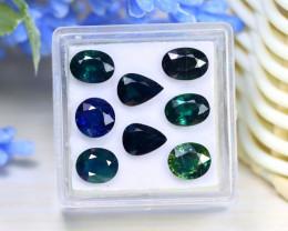 Sapphire 7.72Ct VS Natural Australian Blue Sapphire Lot Box C0735