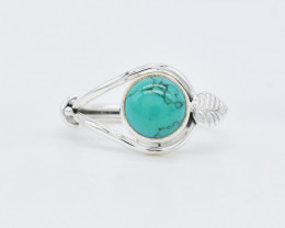 TURQUOISE RING 925 STERLING SILVER NATURAL GEMSTONE AR1523