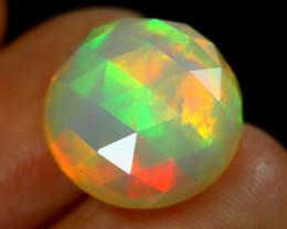 Welo Opal 5.58Ct Precision Cut Natural Neon Flash Color Welo Opal A0708