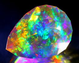 ContraLuz 6.82Ct Pear Cut Mexican Very Rare Species Opal A0710