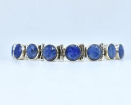 BLUE SAPPHIRE BRACELET NATURAL GEM 925 STERLING SILVER AB12