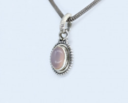 CHALCEDONY PENDANT 925 STERLING SILVER NATURAL GEMSTONE AP1617