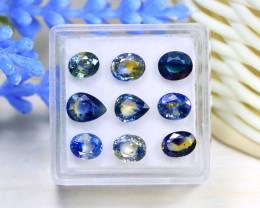 Sapphire 6.79Ct VS 9Pcs Natural Australian Parti Sapphire Lot Box B0814