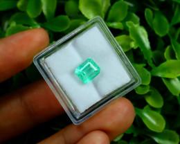 Emerald 1.93Ct Colombian Muzo Emerald Neon Mint Green Beryl B0819