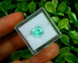 Emerald 1.86Ct Colombian Muzo Emerald Neon Mint Green Beryl B0825
