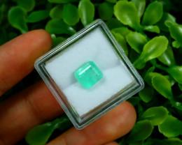 Emerald 1.95Ct Colombian Muzo Emerald Neon Mint Green Beryl B0831