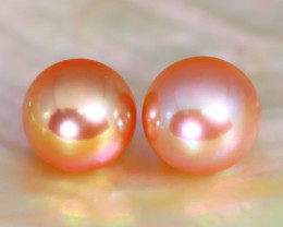 8.0mm 7.43Ct Natural Australian South Sea Orange Color Pearl B0832