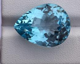 Natural Blue Topaz, 28.55 carats.