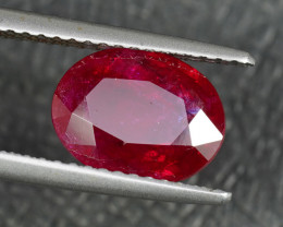 CERTIFIED UNHEATED 2.65CT BURMESE RUBY with TOP PIGEON BLOOD COLOR