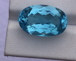 Natural Blue Topaz, 23.45 carats.