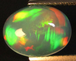 2.43Cts Natural Extremely White Opal Oval Cabochon Loose Gem VDO